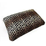 Cushie Pillows 13.5 inches x 10 inches Microbead Squishy/Flexible/Comfortable Rectangle Pillow - Leopard