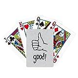 Póker gesto personalizado pulgar negro jugando juego de mesa de la diversión de la tarjeta mágica