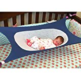 MQUPIN Baby Hammock for Crib Widened Design with 4 Sturdy Safety Buckles,Breathable Skin-Friendly Mesh...