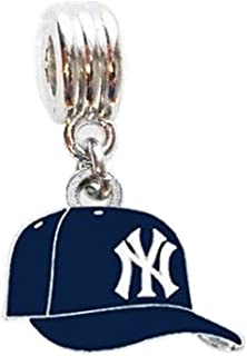 Heavens Jewelry NY New York Yankees Baseball Cap Team Charm Slider Pendant for Your Necklace European Charm Bracelet (Fits Most Name Brands) DIY Projects ETC