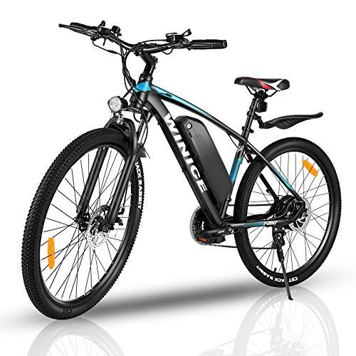 """VIVI Elektrofahrrad Herren 27.5\"""" Mountainbike mit 350W Motor,Abnehmbare 36V/10.4Ah Batterie /21-Gang-Getriebe/Höchstgeschwindigkeit 32km/h/Kilometerstand Aufladen Bis zu 50km (Blau, 27,5 Zoll)"""
