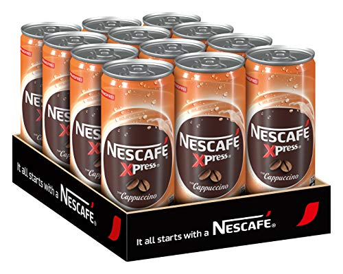 NESCAFÉ Xpress Cappuccino, ready to drink Eiskaffee, 12er Pack (12 x 250 ml)