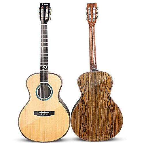 ZDAMN Guitarra 38 Pulgadas de Chapa de Gama Alta Piano clásico Head Spruce Colorido de la Mariposa de Madera Popular (Color : Natural, Size : 38 Inches)