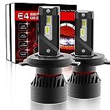 2020最も明るい LED 登場】 XENPLUS H4 Hi/Lo LEDヘッドライト、+ 500%超高輝度G-XPチップ 90W (45W*2) 20000LM H4/9003/HB2 新基準車検対応 搭載 ダブルボールベアリングファン 6000K ホワイト 2年保証(2個パック)