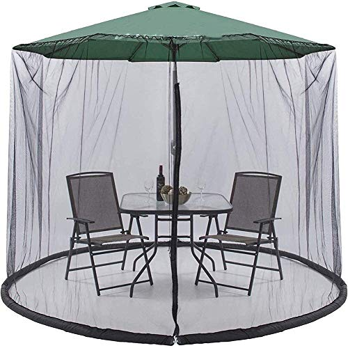 YLJYJ Mosquitera portátil para sombrilla, sombrilla de jardín, mosquitera, sombrilla al Aire Libre, Cubierta convertidor, sombrilla de jardín, par (mosquitera)