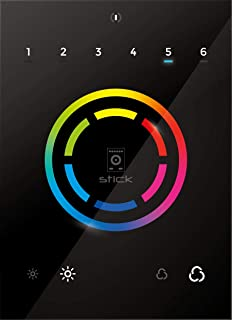 STICK CW4 Black BD WiFi DMX Lighting Controller Standalone Touch Programmable Interface by Nicolaudie Architectural
