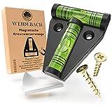 WEIDEBACH® 1x Robuste Wasserwaage klein, Magnetische Mini Wasserwaage schwarz, Kleine Wasserwaage...