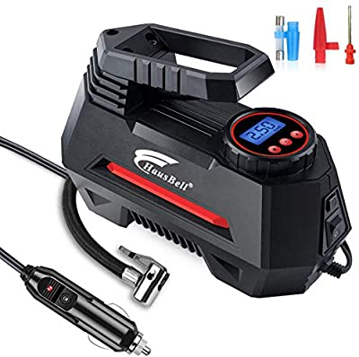 HAUSBELL Portable Air Compressor for Car Tires Digital Tire Inflator