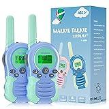 Walkie Talkies para niños, Juguetes para niñas de 3 a 12 años, 8 Canales, escaneo VOX, Rango de 3 km para Aventuras al Aire Libre, Camping, Senderismo, 2 Unidades (Azul)