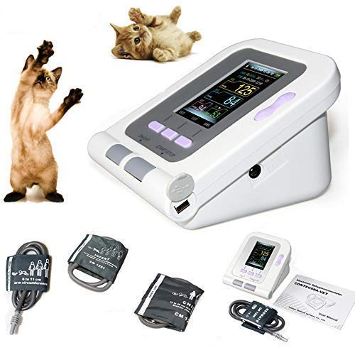 CONTEC08A-VET Digital Veterinary Blood Pressure Monitor NIBP Cuff,Dog/Cat/Pets (CONTEC08A-VET with 3 Cuffs)