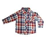 Blue Seven - Camisa - Cuadrados - cuello mao - para bebé niño rojo 68 cm
