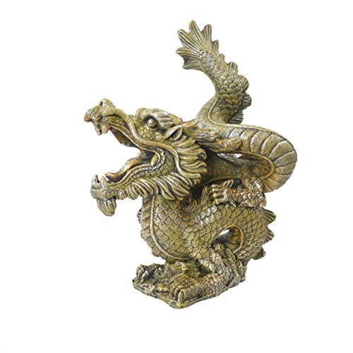 Blue Ribbon 911795 Alter, Goldener Drachen Als Aquarium und Aquaristik-Ornament, Medium