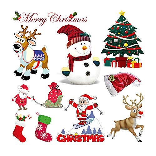 LOOGOOL Christmas Heat Transfer Iron on Appliques Xmas Decorative Patch for Clothing