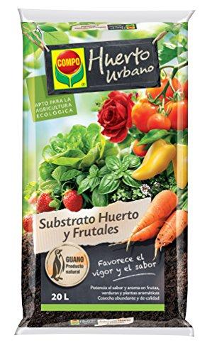 Compo Universal para Frutas, Verduras, Plantas aromáticas y de Interior, Apto para Agricultura ecológica, Substrato de Cultivo, 20 L.
