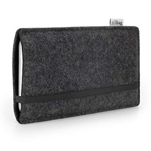 stilbag Funda de Fieltro 'Finn' para Huawei Ascend P7 - Color: Antracita/Negro
