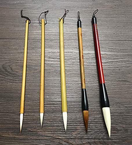 5-Pack Chinese Painting Brush Set Ink Painting Brushes All Size