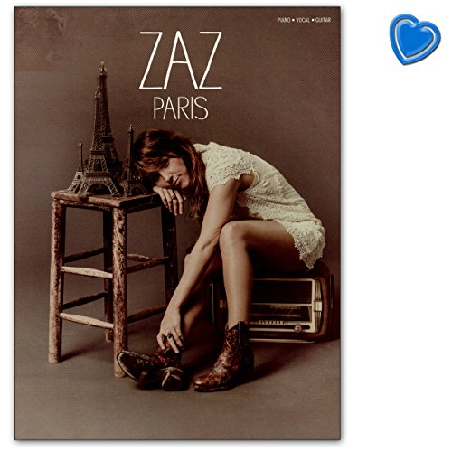 zaz Paris – Songbook para Voz, Piano, Guitarra con Bunter herzförmiger – Partituras Verlag: Wise Publications am1010790 9781783059980