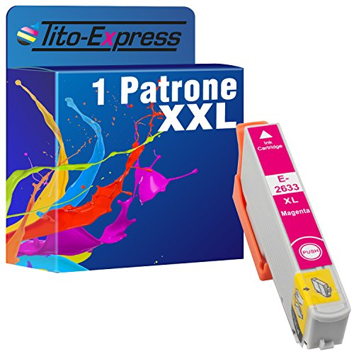 Tito-Express PlatinumSerie 1 Tintenpatrone XXL kompatibel mit Epson TE2633 Magenta Expression Premium XP-620 XP-620 Series XP-625 XP-700 XP-710 XP-720 XP-800 XP-810 XP-820