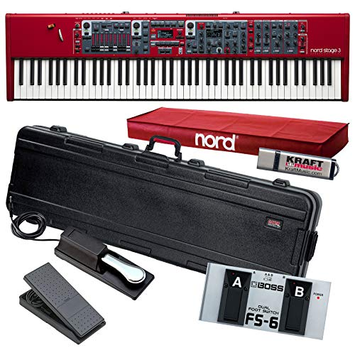 Best Price! Nord Stage 88 Stage Piano with Gator TSA Case, Yamaha FC7 Pedal, Switch, Drive