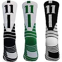 3-Pairs of Beenut Unisex Athletic Mid-Calf Crew Compression Socks
