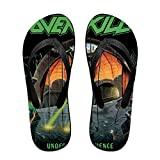 JINfjapafg Music Overkill Band Fashionable Flip Flop, Water Shoes, Beach and Athletic Sandals, Sport Thong Sandal, Slippers for Men and Women