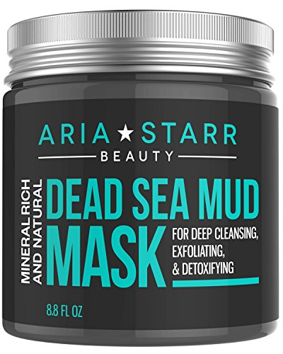 Aria Starr Dead Sea Mud Mask For Face, Acne, Oily Skin & Blackheads - Best Facial Pore...