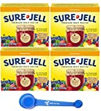 Sure-Jell Original Premium Fruit Pectin, 1.75 ounce (Pack of 4) - with MYD 4-in-1 Measuring Spoon
