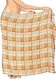 LA LEELA Wrap Femmes Plage Sarong Pareo Nager Serviette de Bain Citrouille Orange_Y829 78'X42'