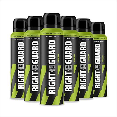 Right Guard Total Defence 5 Desodorante en aerosol antitranspirante, 150 ml, paquete de 6