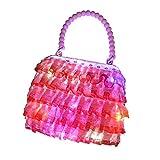 Ruby569y Juguetes de juego de pretender, princesas de moda con iluminación LED, bolso de mano, bolsa de mano, regalo de cumpleaños para niños, color al azar y estilo sin luz