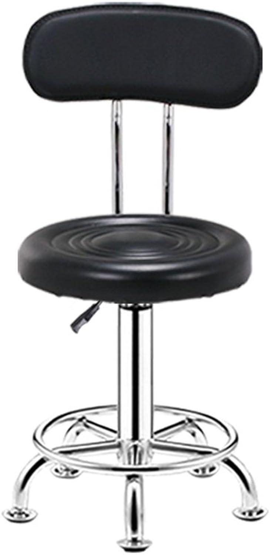 AODISHA Bar Chair, Backrest Liftable Coffee Table Stool Computer Chair Beauty Chair High Stool Business Hall Bar Stool Home redating Chair Bar Chair Seat Height 45-57cm More Comfort (color   Black)