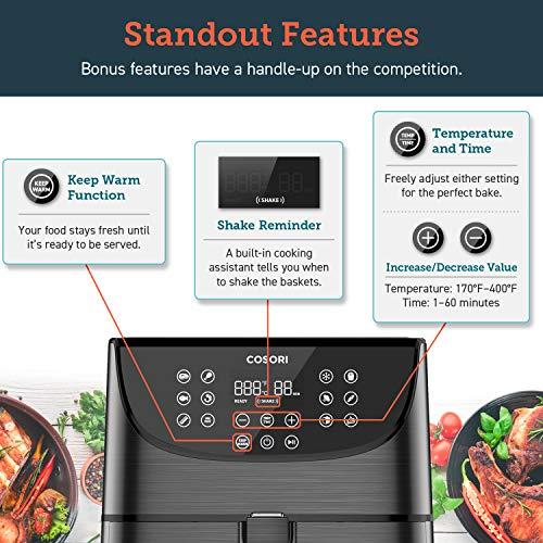 COSORI 3.7QT Air Fryer 1500-Watt