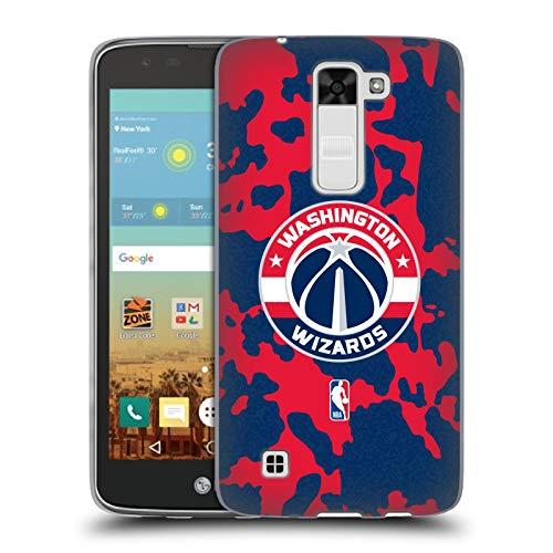 Head Case Designs Oficial NBA Estampado Animal de Vaca Washington Wizards 3 Carcasa de Gel de Silicona Compatible con LG K7 K330 / Tribute 5