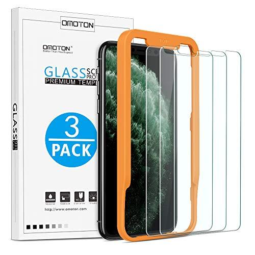 OMOTON iPhone XS/X Protector de Pantalla [5.8 Pulgadas] 2.5D Borde, Cristal Templado iPhone XS/X, Dureza 9H, Anti - Burbujas, Kit de Instalación, 2 Unidades