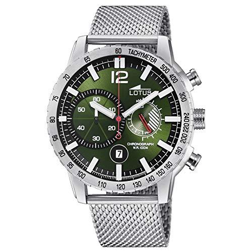 Lotus Reloj Cronógrafo para Hombre de Cuarzo con Correa en Acero Inoxidable 10137/1