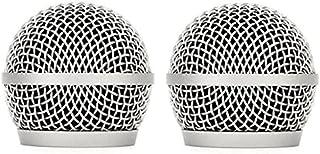Rejilla de repuesto para micrófono PG2 con cabeza de bola para micrófonos vocales inalámbricos duales PG58 PG288, 2 unidades