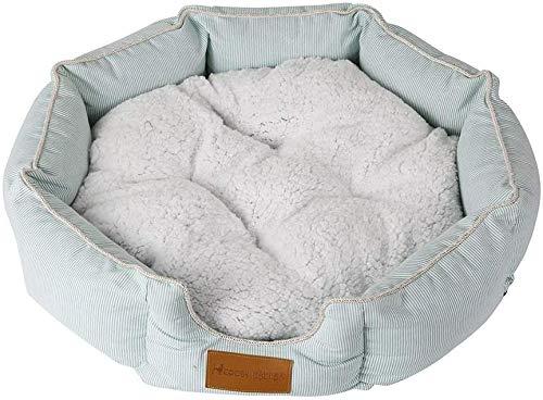 YLCJ Hundebetten, Plüsch-Haustier-Bett, weiches luxuriöses und bequemes Katzen-Hundedonut-Bett mit Rutschfester Basis (Größe: S: 45 * 13CM)