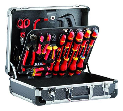 USAG 002 ME 20 U00020002 Valigia con Assortimento per Elettrotecnica (20 pezzi)