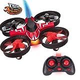 Drones- Mini niños, Mercury (Xtrem Raiders), Auto looping, Nano fácil de Volar, Color Rojo (XT280739)