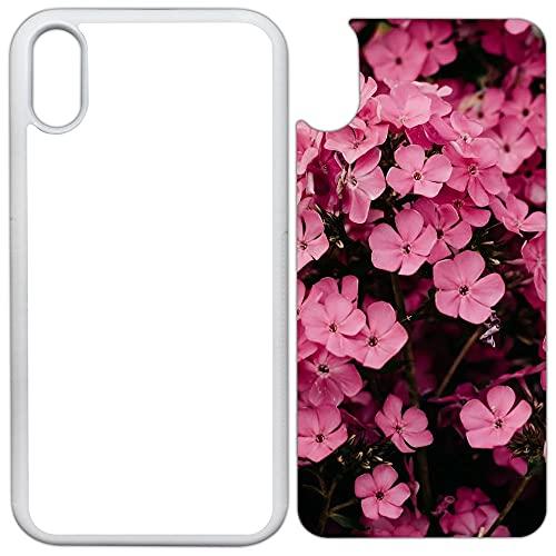 Innosub USA Sublimations-Schutzhülle, Gummi, Weiß, kompatibel mit iPhone XR – Blanko-Hüllen & Aluminium-Einsätze für Farbstoffsublimation/Blanko-Handyhüllen, bedruckbar, 5 Stück
