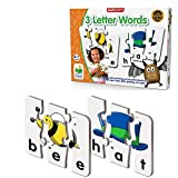 The Learning Journey: Match It! - 3 Letter Words -Spelling Puzzles for Kids Ages 3-5, Learn to Read With Preschool Learning Materials and Learning Games - Award Winning Educational Toys