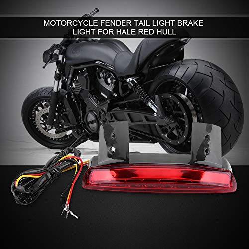Duokon Motorfiets Achterrem Achterlicht, Rem Achterlichten 8 LED Licentie EB Voor Bobber Cafe Racer