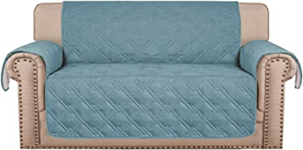 100% Waterproof Sofa Protectors 2 Seater from Pets/Dogs Couch Covers Love Seat Cover Non-Slip Furniture Covers for Sofa wi...