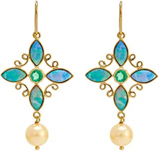 Gehna Yellow Gold, Drop Earrings for Women