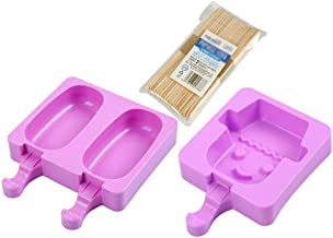 Ice lolly moulds Ice Making Mold, DIY Homemade Creative Ice Cream Mold Ice Cream Ice Box Ice Tray Popsicle Mold (Color : A...