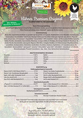 Chicken GoldHühner-Premium Futter 2,5kg - ohne Gentechnik - mit Kräutern und Gemüse … - 6