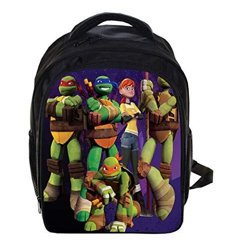 Mochila para la Escuela Ligero Tortugas Ninjas Mutantes Adolescentes para niños Elemental