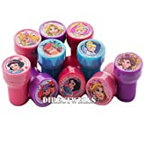 Princess Disney 10 Assorted Self Inking Stampers Party Favor