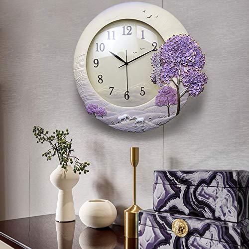Reloj de pared – Resina/Metal Puntero/Personalidad/Home/Reloj, Moda Reloj de pared Salón Dormitorio Creativo Reloj de pared Reloj de pared (45 x 48 cm) Mereces tener