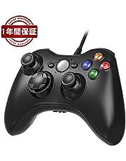 XBOX360 コントローラー Blitzowl PC コントローラー 有線 ゲームパッド STEAM ケーブル 二重振動 Windows PC Win7/8/10